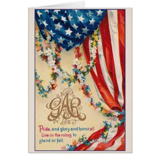 Cartão Exército grande do PEIXE-AGULHA patriótico do