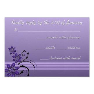 Cartão exótico da resposta da lavanda das flores convite 8.89 x 12.7cm