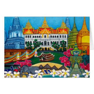 Cartão exótico de Banguecoque