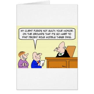 Cartão experimentação aceitável do juiz dos modelos