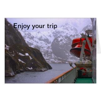 Cartão Explorador intrépido, viagem norueguesa