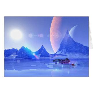 Cartão Explorando uma arte da ficção científica do