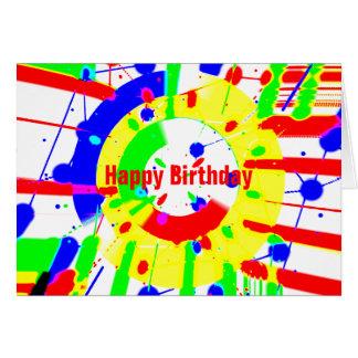 Cartão Explosão do aniversário
