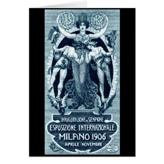 Cartão Expo 1906 do International de Milão