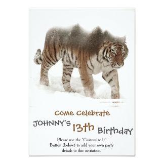 Cartão Exposição-animais selvagens tigre-Tigre-dobro