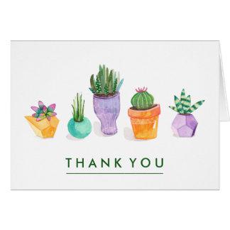 Cartão Exposição do Succulent
