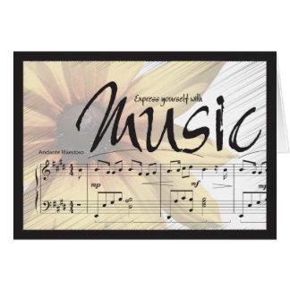 Cartão Expresse-se com música Notecard