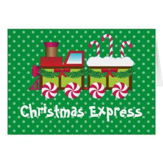Cartão expresso do trem do bastão de doces do