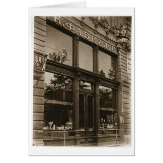 Cartão Exterior da loja de Faberge, St Petersburg, conde