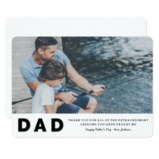 Cartão extraordinário do dia dos pais das lições convite 12.7 x 17.78cm