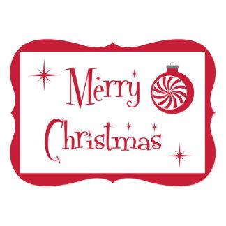 Cartão extravagante do Feliz Natal retro Convite 12.7 X 17.78cm