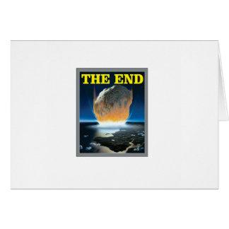 Cartão extremidade asteróide