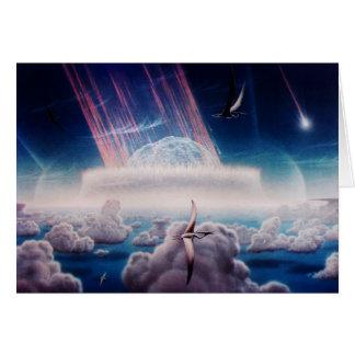 Cartão Extremidade do dinossauro de NASAs