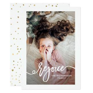 Cartão Exulte o roteiro do Natal de | com foto