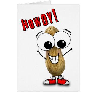 Cartão Eyed Googly do amendoim do bobo Howdy olá!