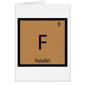 Cartão F - Símbolo da mesa periódica da química do