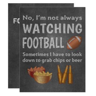 Cartão Fã de esportes engraçado que olha não sempre o