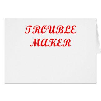 Cartão fabricante de problema