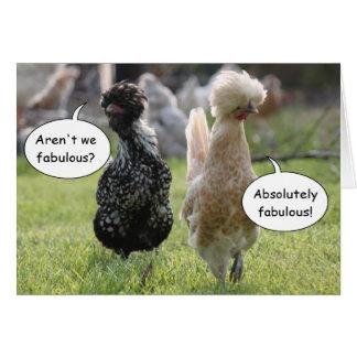 Cartão fabuloso das galinhas