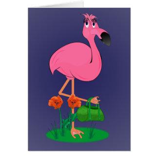 Cartão fabuloso do flamingo