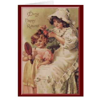 Cartão Faça-me bonito, Mama
