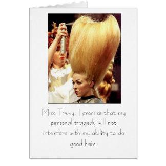 Cartão Faça o bom cabelo