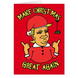 Cartão Faça o excelente do Natal outra vez