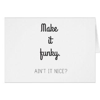 Cartão Faça-o Funky