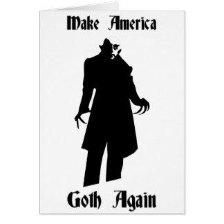Cartão faça o gótico de América outra vez