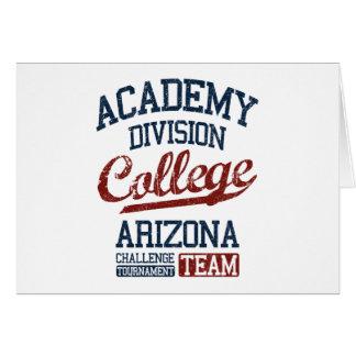 Cartão faculdade da divisão da academia