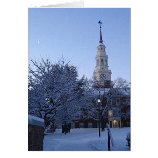 Cartão Faculdade de Colby na neve