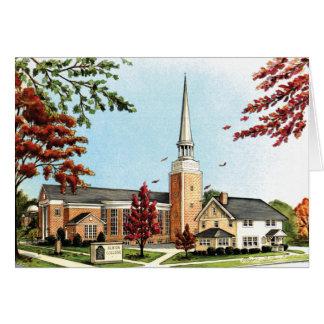 Cartão Faculdade na queda, capela de Albion de Goodrich