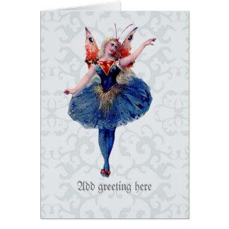Cartão Fada bonito da bailarina - belas artes delicadas