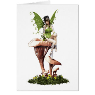 Cartão Fada da floresta em cogumelos Mystical