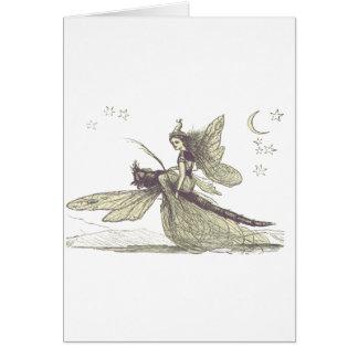Cartão Fada da libélula