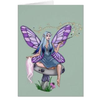 Cartão Fada da mágica do cogumelo