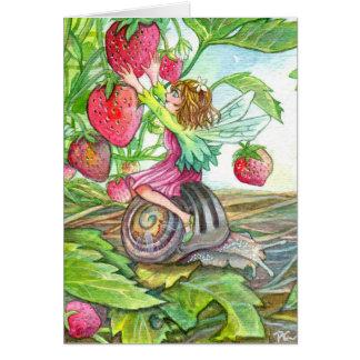 Cartão Fada da morango