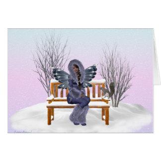 Cartão Fada da neve