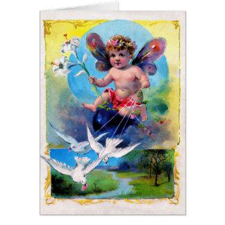 Cartão Fada da primavera de Falln