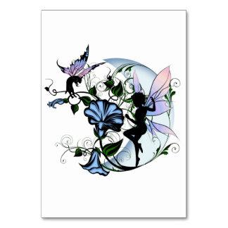 Cartão Fada da sombra da corriola e gato cósmico