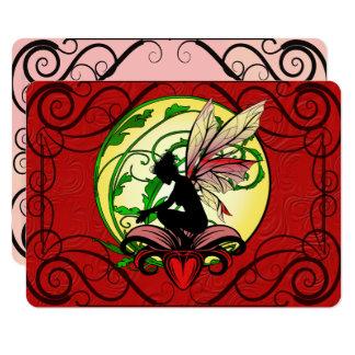 Cartão Fada da sombra do lírio