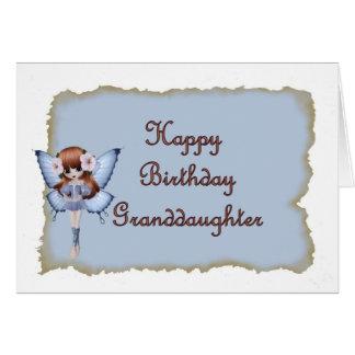 Cartão Fada do aniversário para a neta