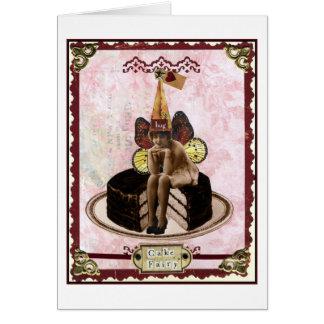 Cartão Fada do bolo