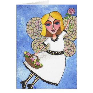 Cartão Fada do primavera - notecard