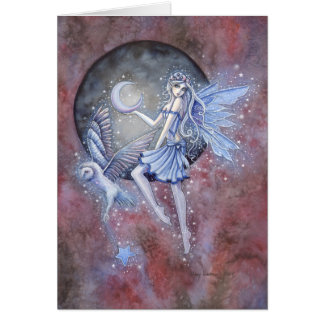 Cartão Fada dos coletores da estrela e arte da fantasia