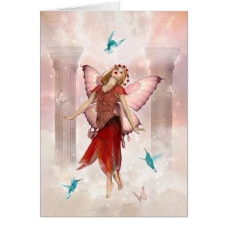 Cartão Fada e colibris da borboleta