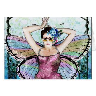 Cartão Fada Notecard de Nouveau da arte
