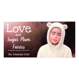 Cartão Fadas da ameixa do açúcar