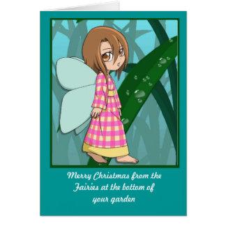 Cartão Fadas de Manga, menina do guingão