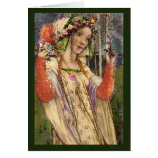 Cartão Fairyland do primavera